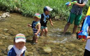 平瀬やな川遊び