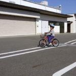 感覚派な子供の自転車練習